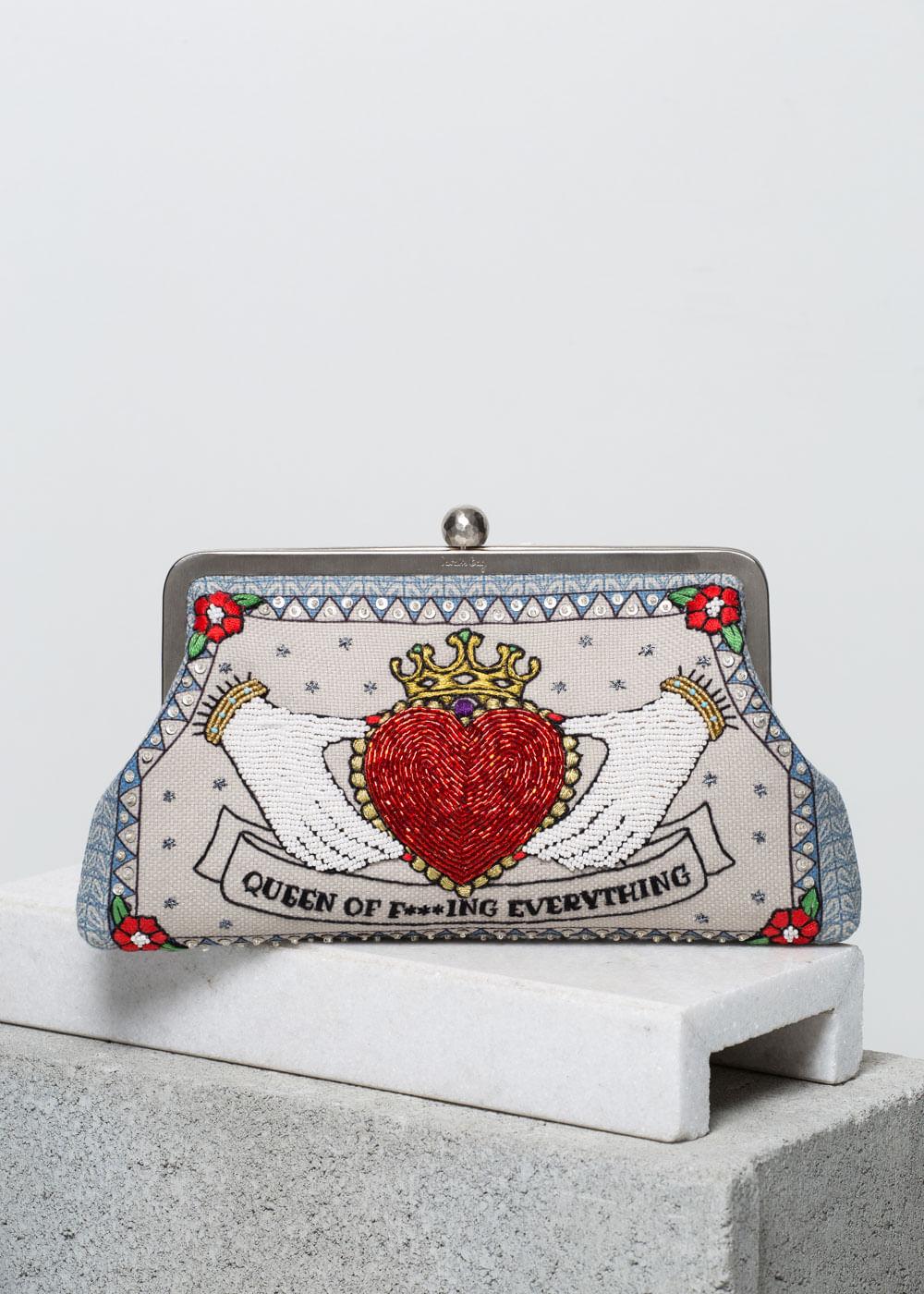 Bolsa Clutch Queen Of F***ing Everything Vermelha U