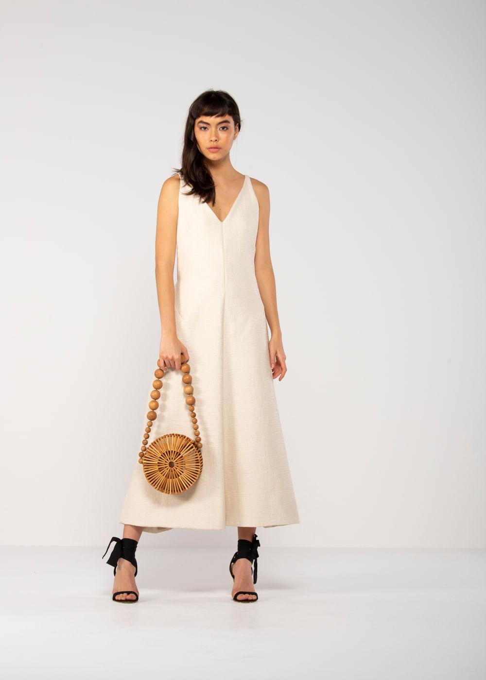 Vestido Elle Off White M