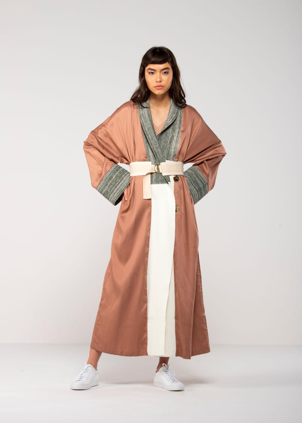 Vestido Kimono  Rosa 38 It