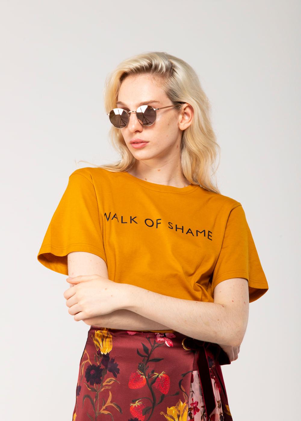 Camiseta Logo Walk Of Shame Mostarda 42 It