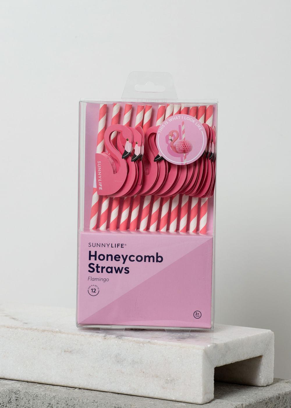 Kit Com Canudos Decorados De Flamingo Rosa U