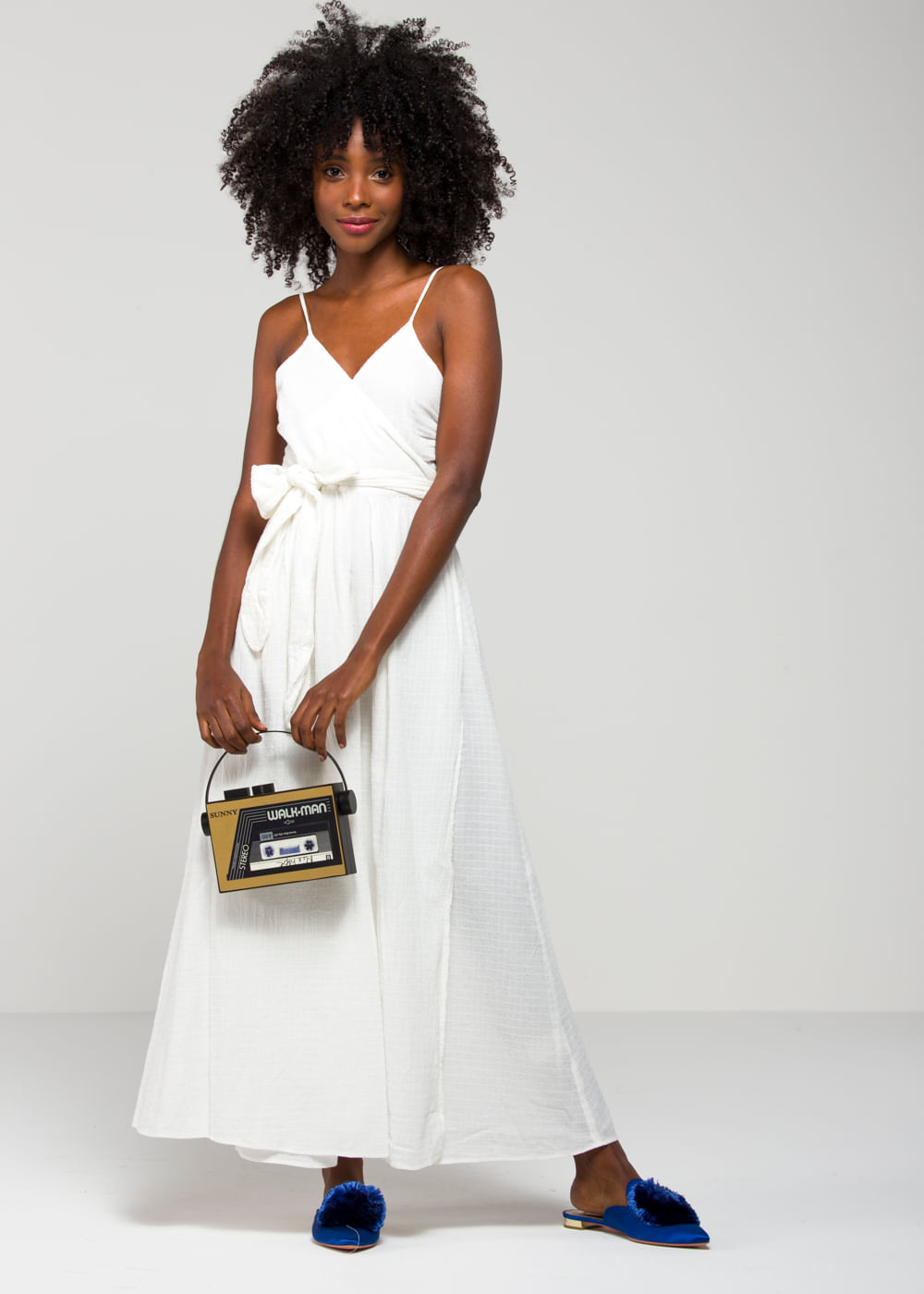 Vestido Longo De Algodão Alma Branco Branca G