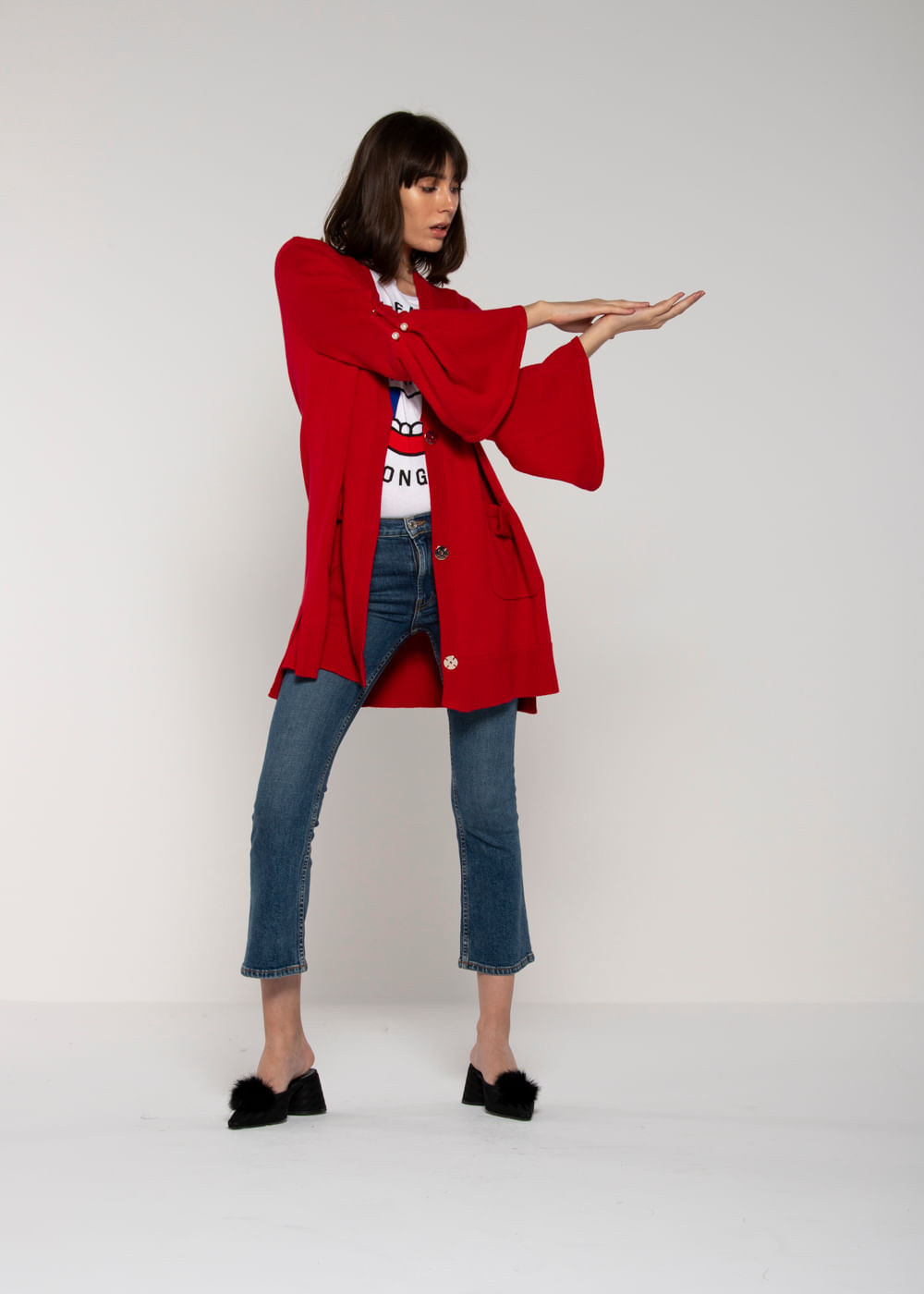 Cardigan Oversized Maudi Vermelha U