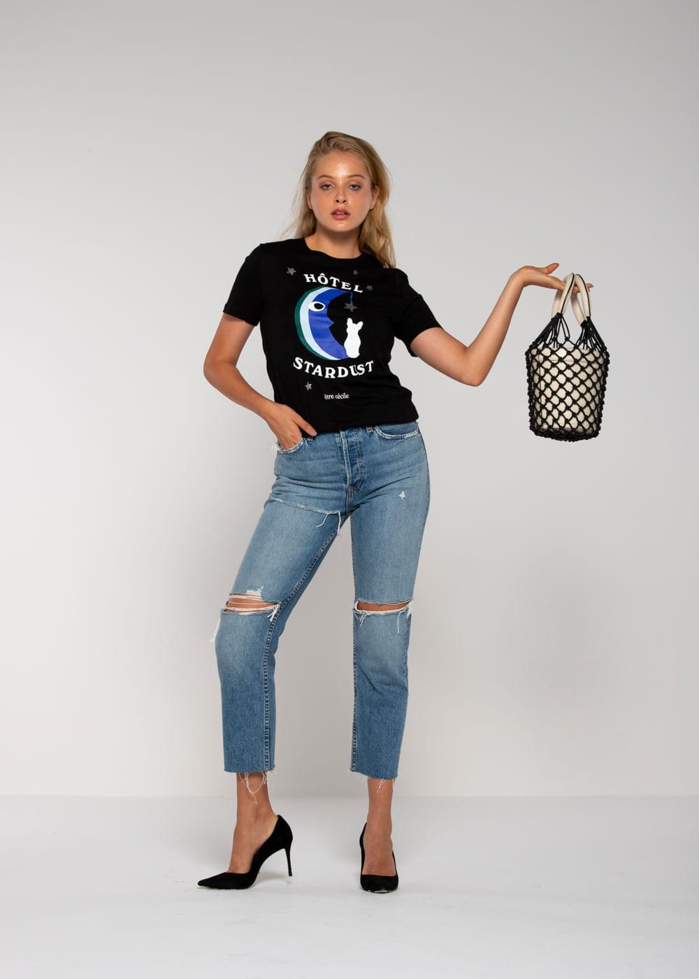 Camiseta Jersey Hotel Stardust Preta P
