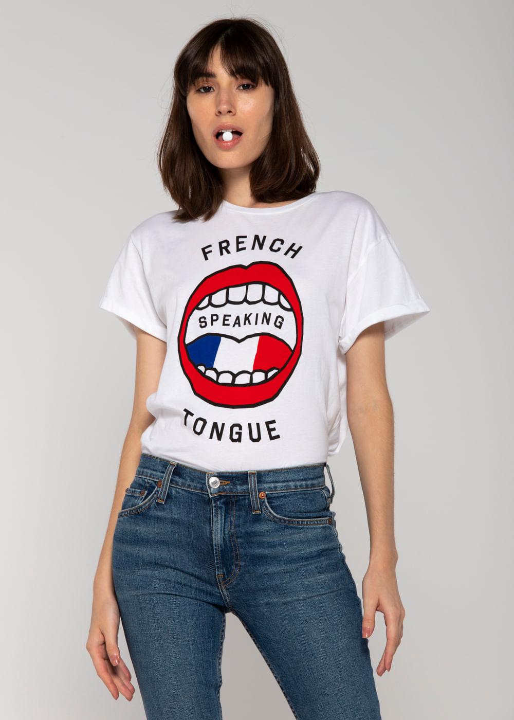 Camiseta French Tongue Oversized Branca G