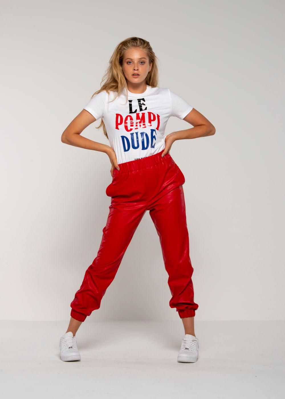 Camiseta Le Pompi Dude  Branca P
