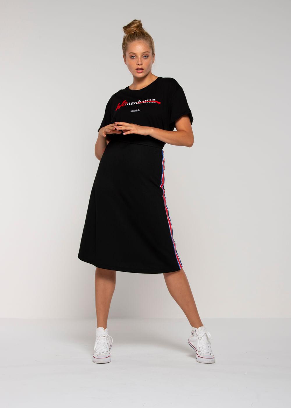 Camiseta Woman Oversized Preta Pp
