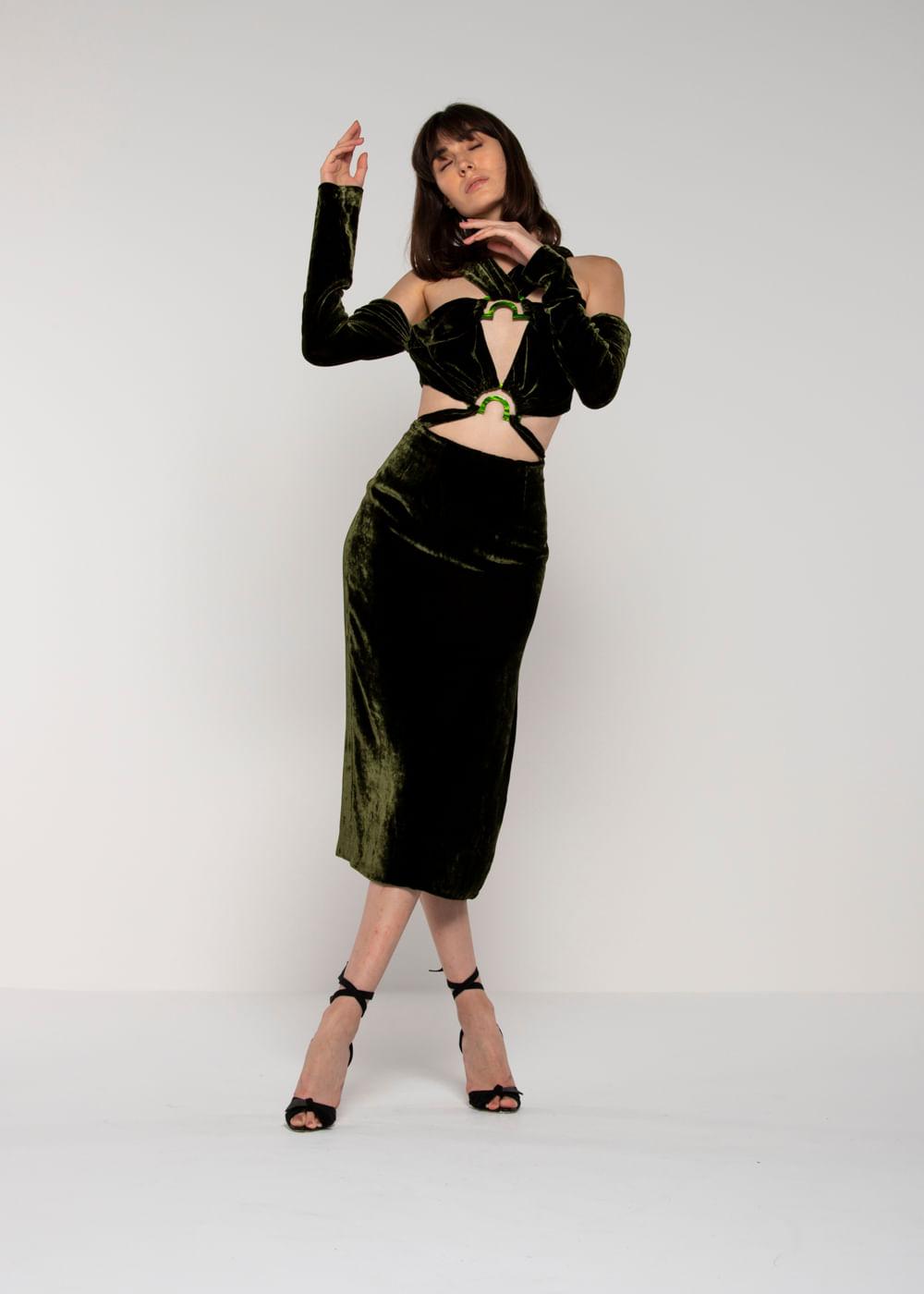 Vestido Natasha Verde P