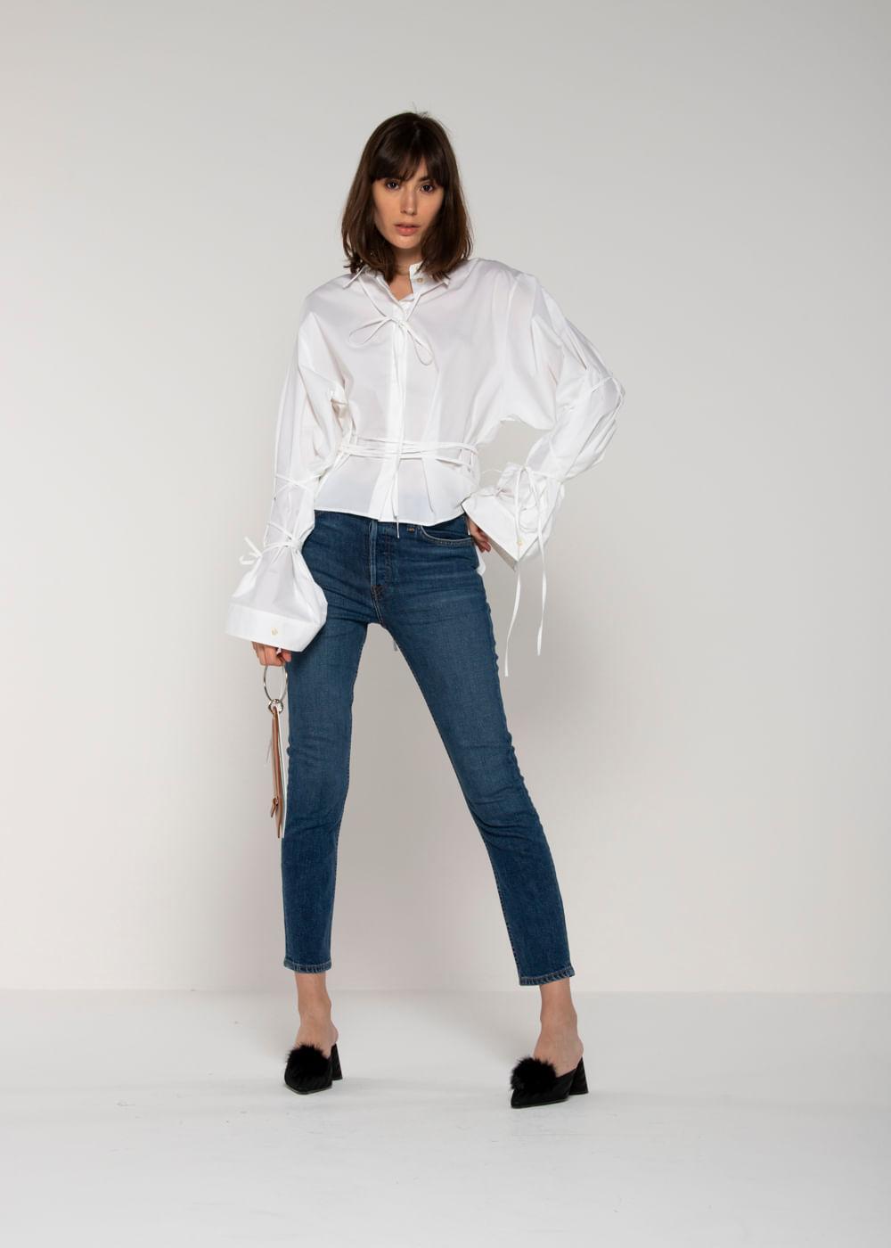 Calça Jeans High Rise Ankle Crop 70S Azul 29 Us
