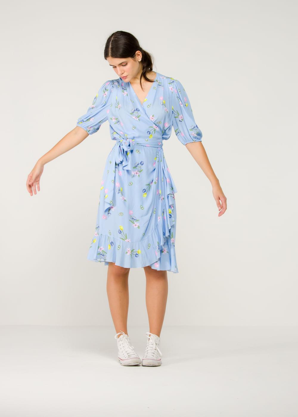 Vestido De Viscose Pachino Azul Azul 40 It