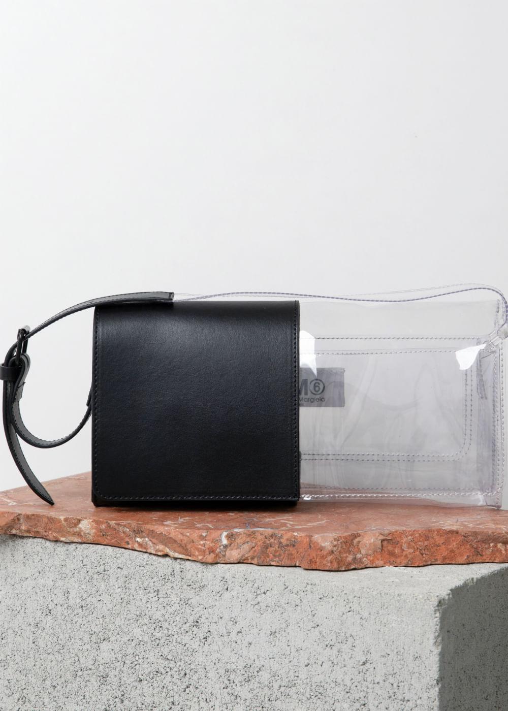 Bolsa Tiracolo De Plástico E Couro Preto U