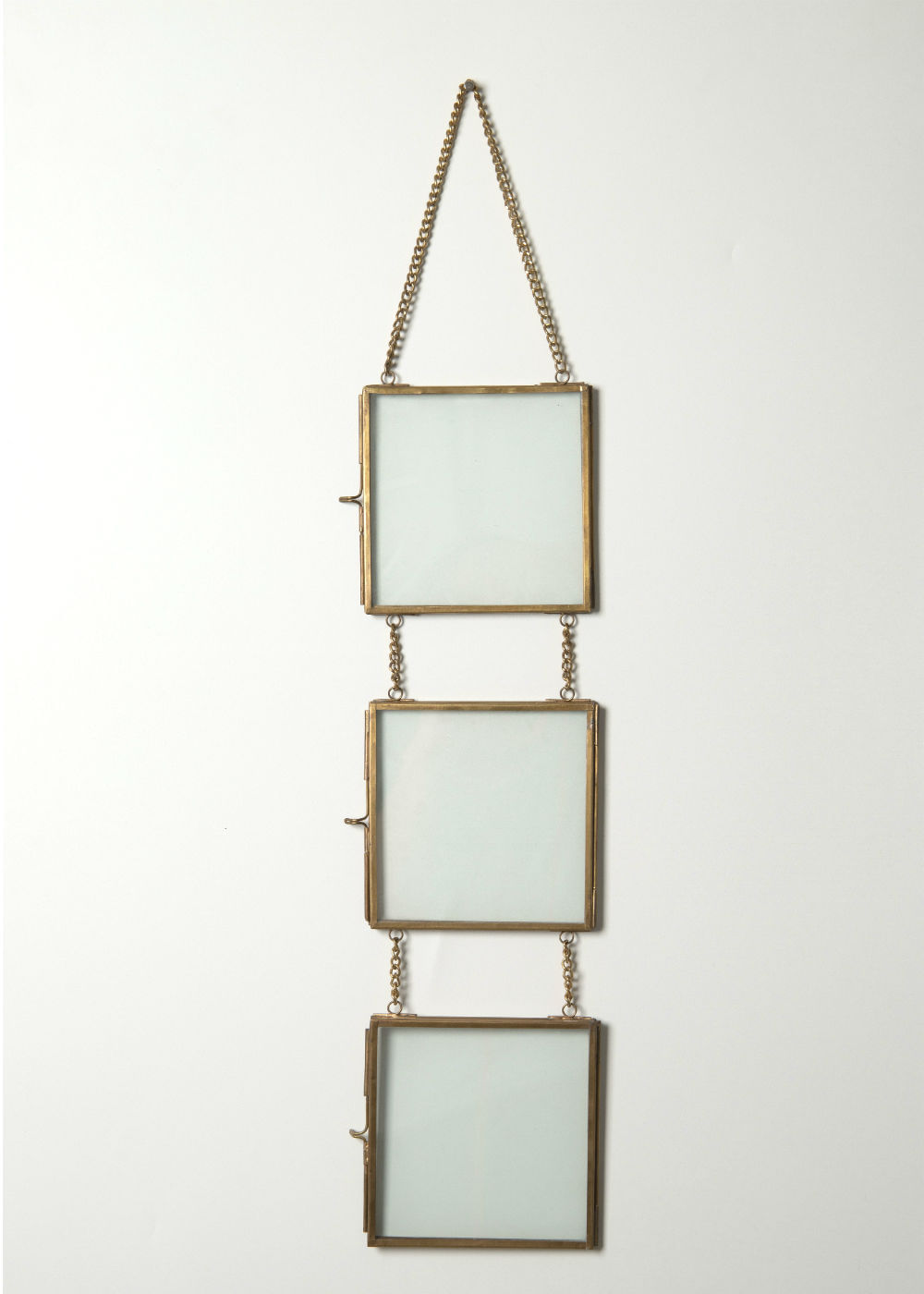 Quadro De Vidro Decorativo Dourado 13X46 Dourada U