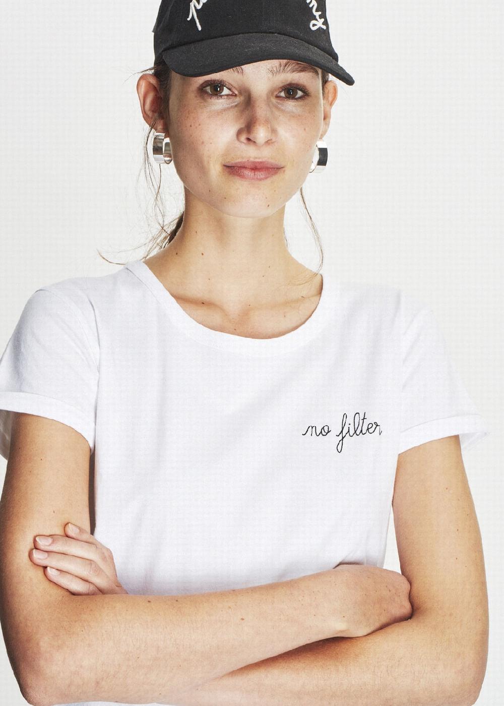T-Shirt De Algodão No Filter Branca  Branca G