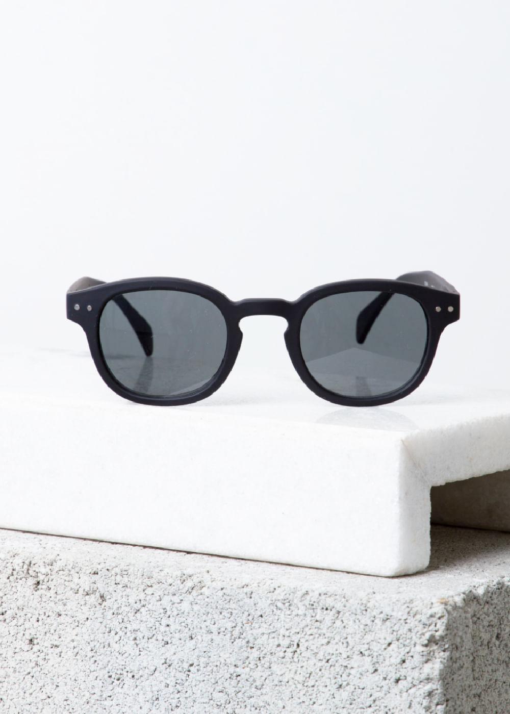 Óculos De Sol Redondo Black C Preta U