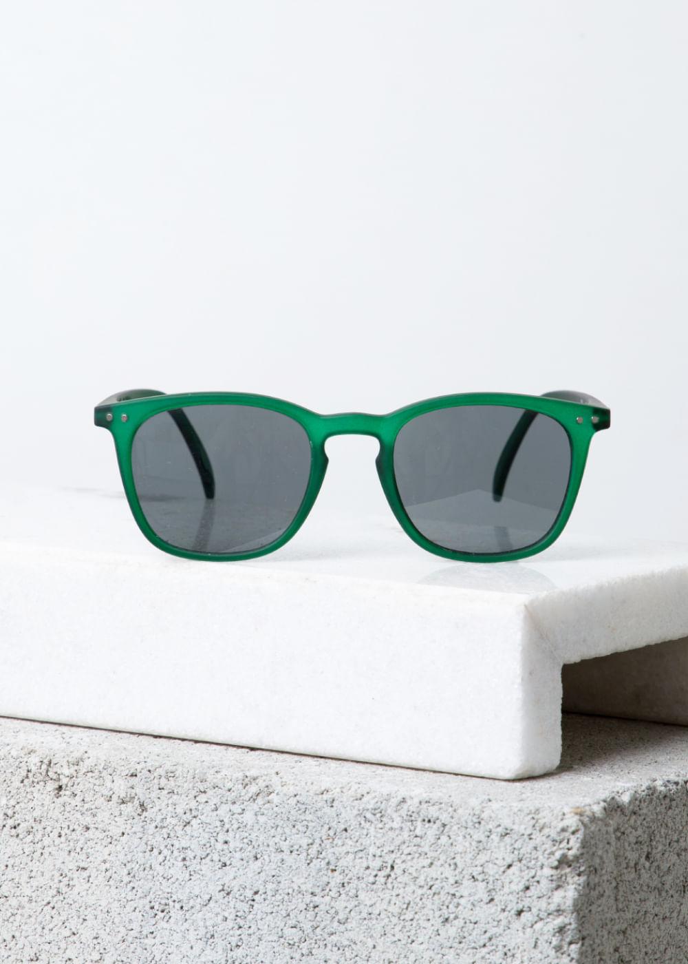 Óculos De Sol Com Armação Quadrada Green Crystal E  Verde U