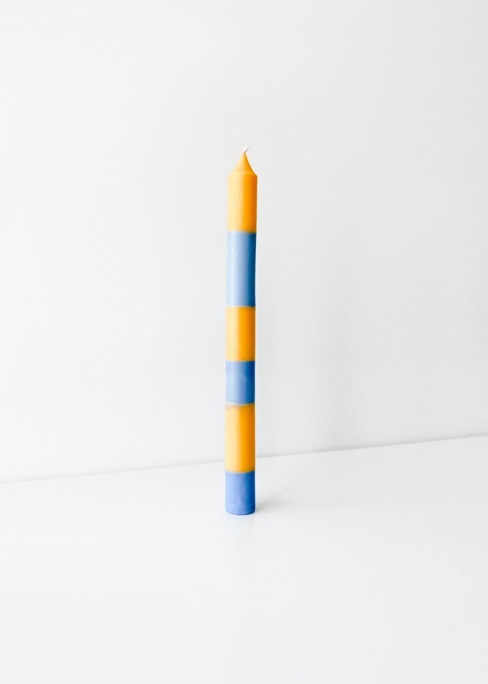 Vela Listrada Azul E Laranja Azul U
