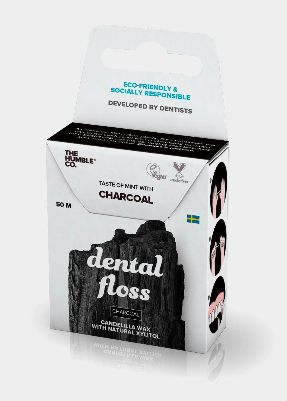 Fio Dental Orgânico Charcoal - 50 Metros Branca U