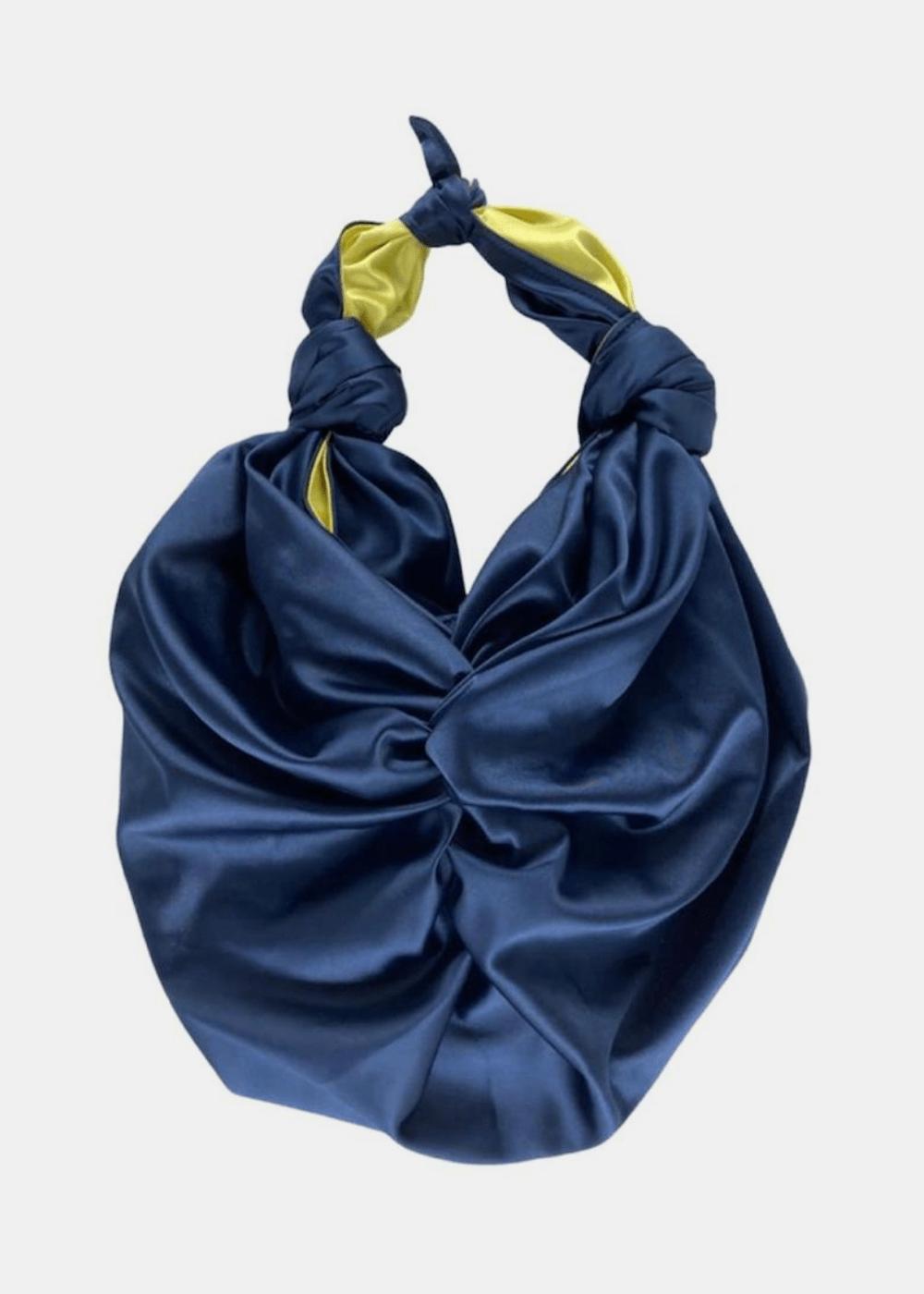 Bolsa Nara Marinho Com Amarelo Azul Marinho U
