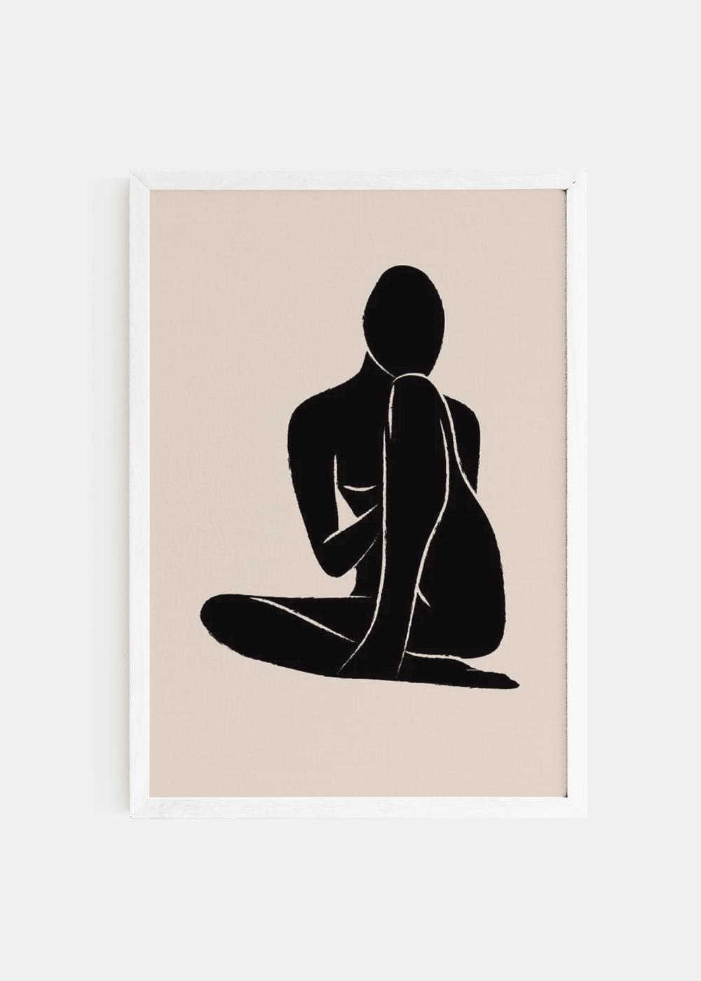 Nude-moldura-branca